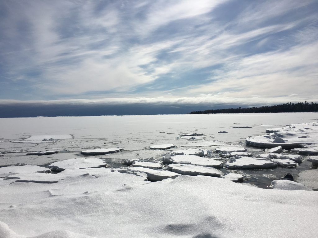 A view onto Lake Michigan from the Newport State Park cross country ski trail in Door County.
