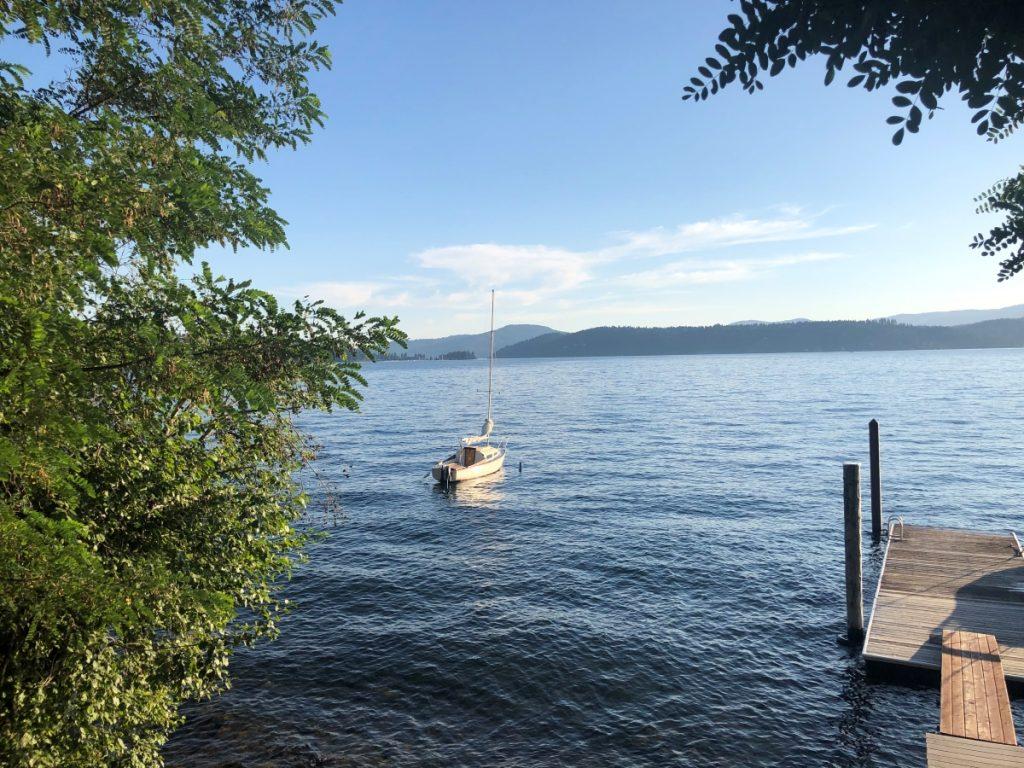 Lake Coeur d'Alene Sail Boat