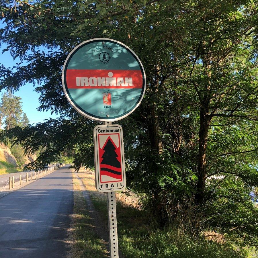 North Idaho Centennial Trail Ironman Sign
